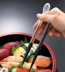 Chopsticks that dispense sauce