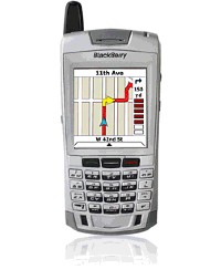 Turning mobile phones into handheld navigation systems
