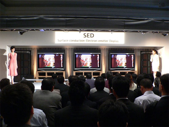 SED   TV   Surface-conduction   Electron-emitter   Display   SlashGear   Canon   Toshiba