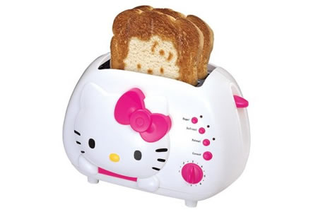 Hello Kitty strikes again-the Hello Kitty Toaster