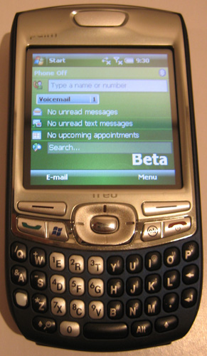 WM6 for Treo 750 sees the daylight – leaked ROM