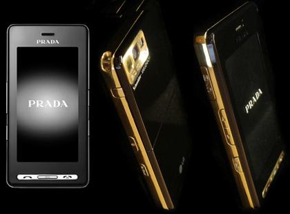 LG Prada covered in 24k Gold