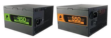 Corsair VX450W and VX550W – Energy efficient PSU