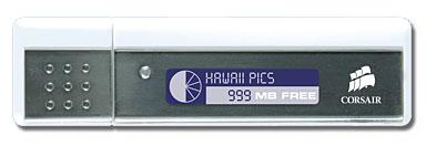 Corsair Readout – Flash Drive with capacity status display