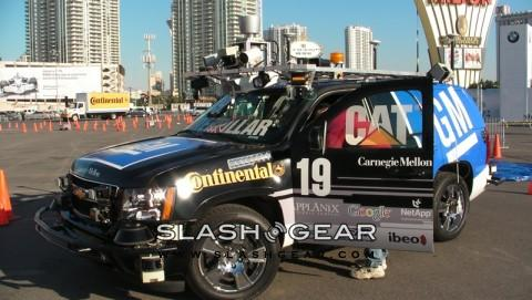 Exclusive video walkthrough DARPA Challenge-winning Chevy Tahoe self-driving vehicle!