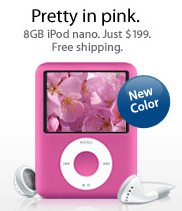 8GB iPod Nano gets the Pink treatment