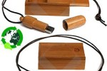 Woody Bamboo flash drive is green storage alternative