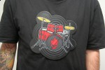 ThinkGeek Electronic Drum Kit T-Shirt takes portable instrumentation to the extreme
