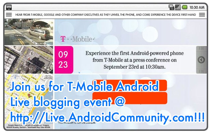 T-Mobile Android Event on Sept. 23rd: We'll be Live Blogging