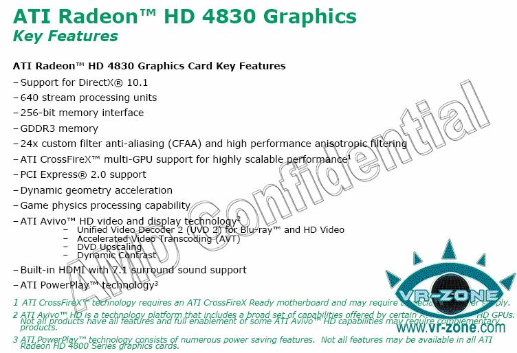 ATI Radeon HD 4830 sub-$150 video card rumored for October