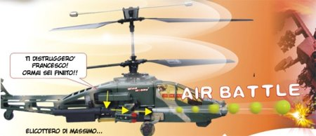Falcon Radio Controlled Helicopter provides ammo