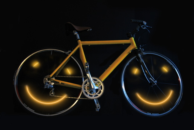 Happy Face LED bike accessory makes riding a joy