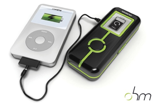 OHM Gadget Charger concept derives energy from biking