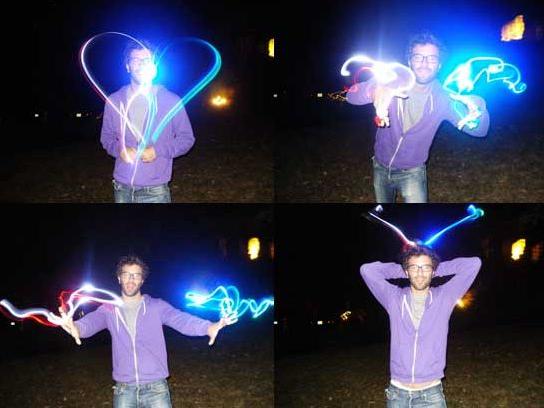 Laser Light Finger Beams make for cool shutter lag photos