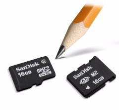 SanDisk announces 16GB microSDHC and Memory Stick Micro