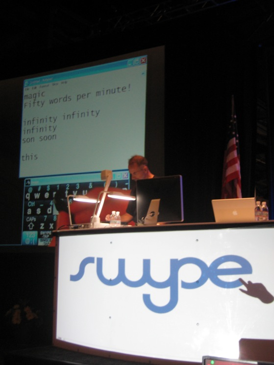 Swype data entry is totally gesture-based; for real