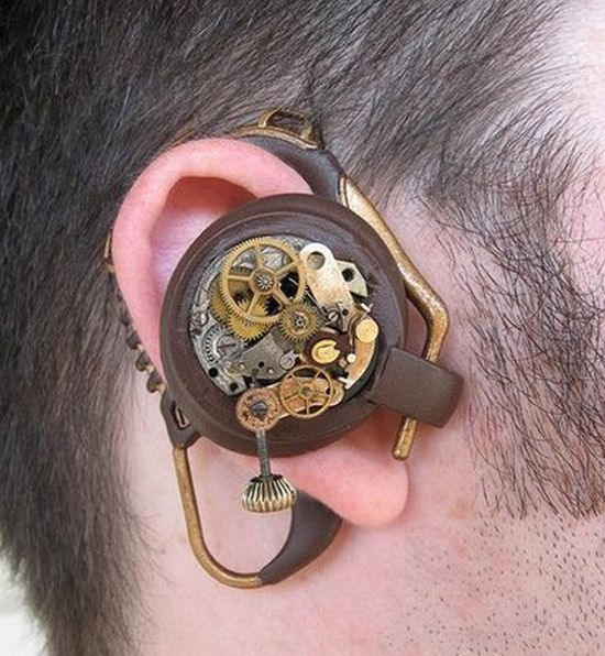 Bluetooth Headset prop is Steampunk lover's dream