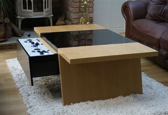SurfaceTension Arcade Coffee Table brings retro gaming to the future