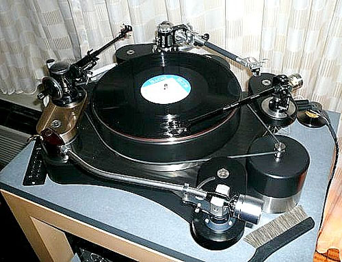 High Water Sound four-arm turntable with multiple music personalities