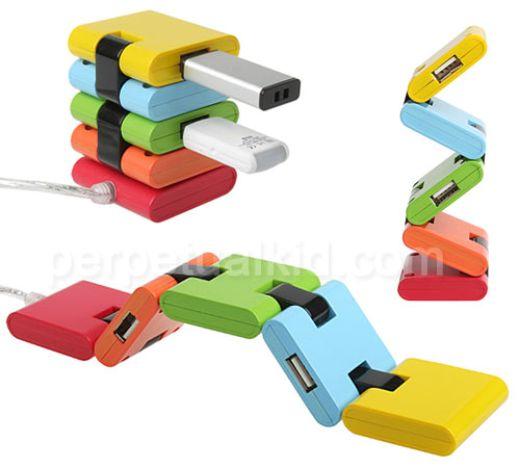 Flexible Chromatic USB Hub is bendy and bright