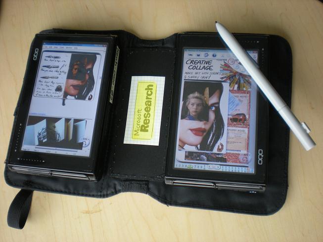 Microsoft Research Codex: dual OQO touchscreen digital book