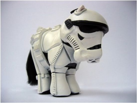 Star Wars Stormtrooper-ized My Little Ponies