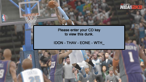 NBA 2K9 demands non-existent CD key to install; Steam offers fix