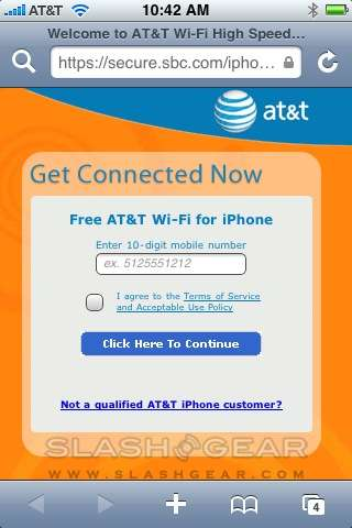 AT&T free WiFi hotspot access is for BlackBerry as well as iPhone users