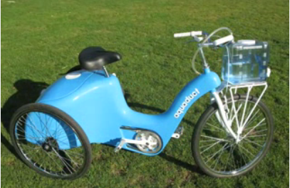 Aquaduct Tricycle is water filtration system