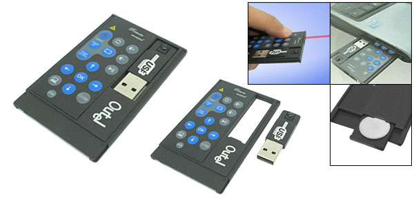 Wireless Remote Control hides in PCMCIA card slot