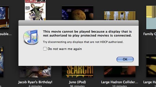 Apple new MacBook & MacBook Pro HDCP frustrating iTunes users