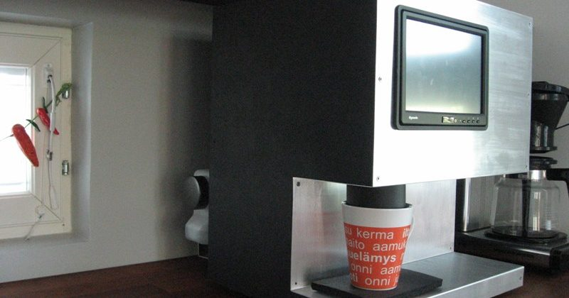 Touchscreen DIY Coffee Machine with remote cellphone control