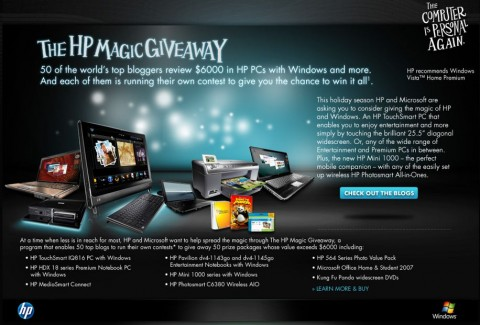 SlashGear HP Magic Giveaway starts today!