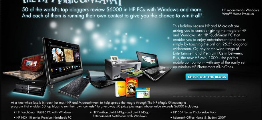 The HP Magic Giveaway: SlashGear is one of your 50 chances to win!