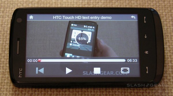 HTC Touch HD SlashGear Review: Part 2