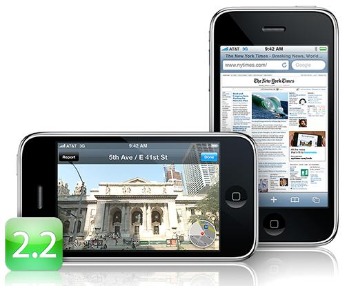 iPhone firmware 2.2 released: Street View, OTA Podcasts & more