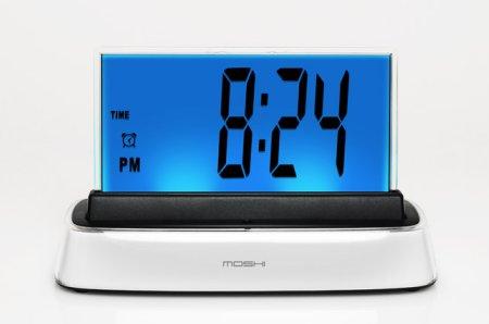 Moshi IVR Alarm Clock features spoken TimeSet tech