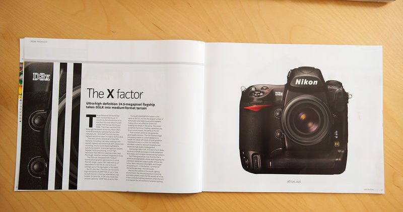 Nikon D3x 24-5MP DSLR exposed in official magazine