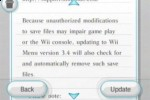 Nintendo Wii update 3.4 deletes homebrew mods
