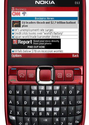 Nokia E63 entry-level smartphone official