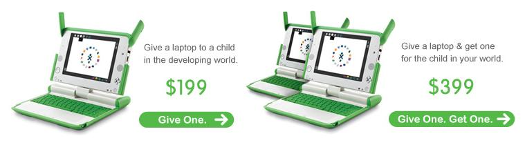OLPC Give One, Get One restarts on Amazon