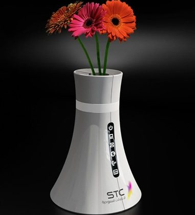 Saudi Telecom wireless router-vase concept