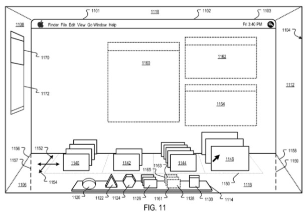 Apple patents reveal a 3D desktop may be in the works