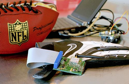 CMU students design Footballs and gloves to help referees