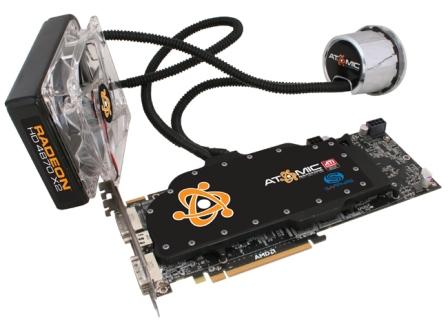 World's Fastest GPU Sapphire ATOMIC HD 4870 X2 gets liquid-cooled by Asetek