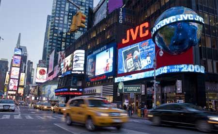 JVC turns on first HD display in NY Times Square