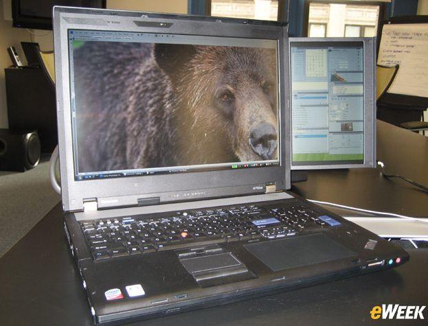 Lenovo ThinkPad W700ds live shots
