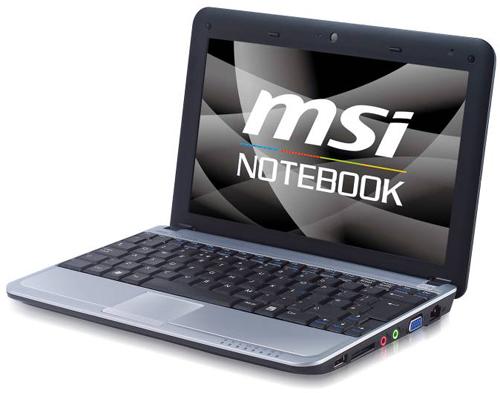 MSI U115 Hybrid dual SSD & HDD netbook official