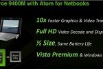 NVIDIA Ion platform: Atom plus GeForce 9400M for full-HD netbooks
