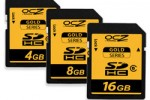OCZ launches 150x Gold Series SDHC storage cards